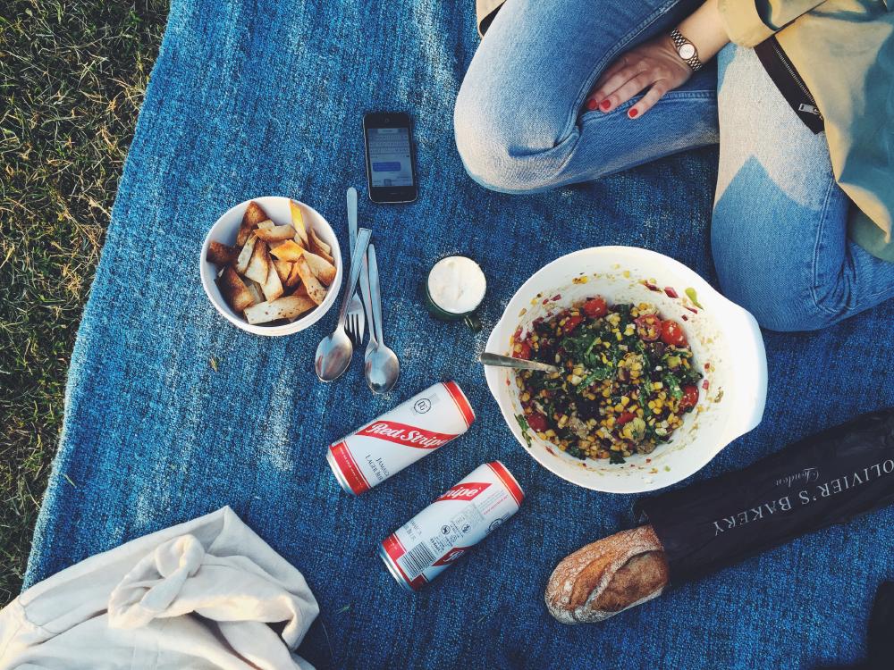 picknick med majssallad