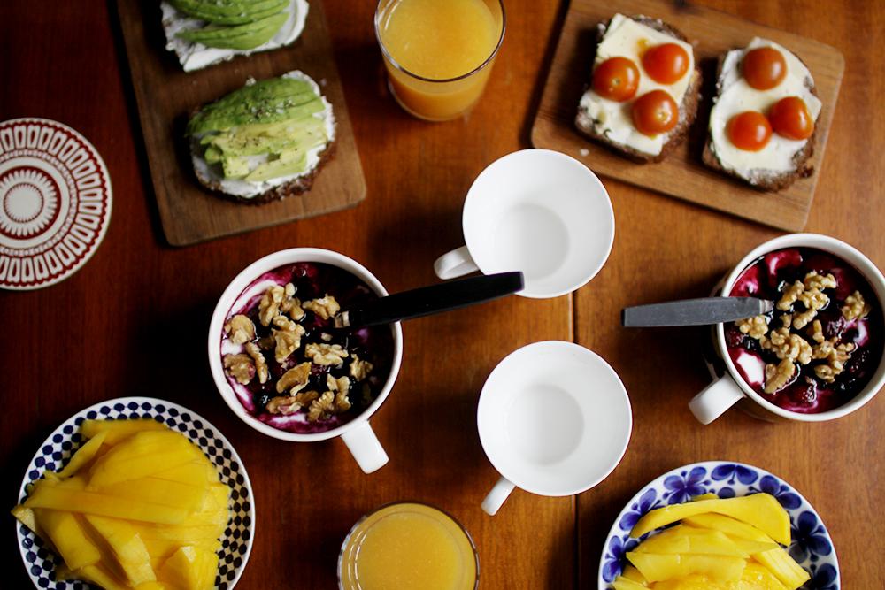 frukost fika middag drinkar