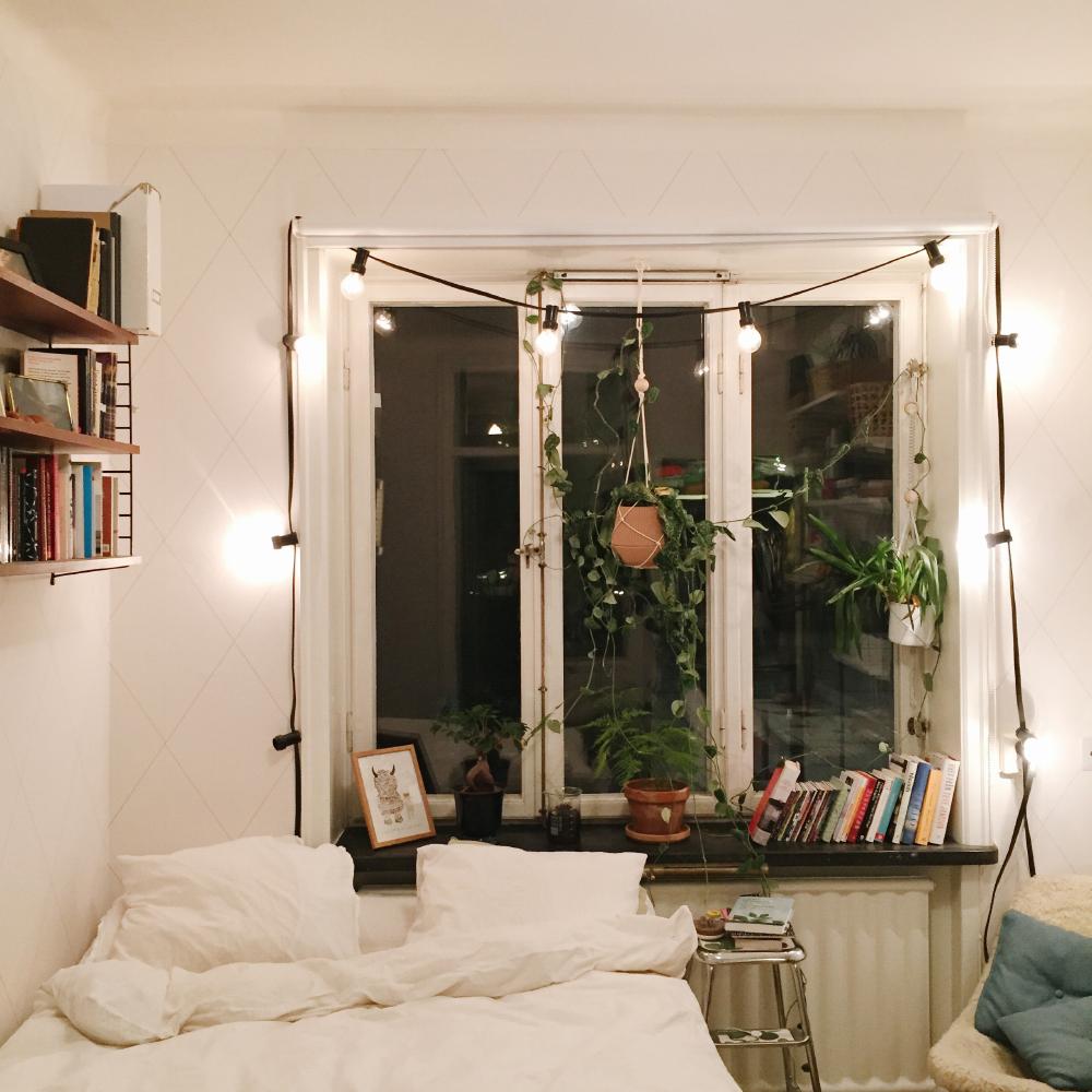 mitt sovrum i skrivande stund